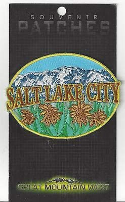 Pretty Salt Lake City Utah Souvenir Tourist Patch