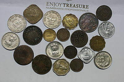 India Many Old Coins Lot Very Useful A60 Ii8