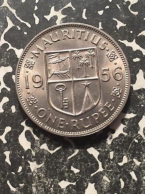1956 Mauritius 1 Rupee Lot#2246 High Grade! Beautiful!