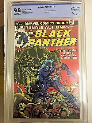 JUNGLE ACTION #10, (1974), BLACK PANTHER, CBCS 9.8, (Not CGC) FREE SHIPPING
