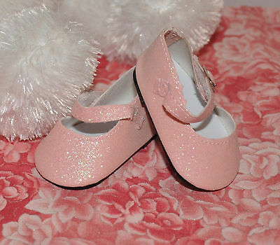 ~PINK GLITTER DRESSY SHOES ~ fit Baby Face & AG Dolls