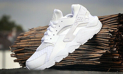 Nike Air Huarache Run White Pure Platinum 318429-111 Men's 8-13