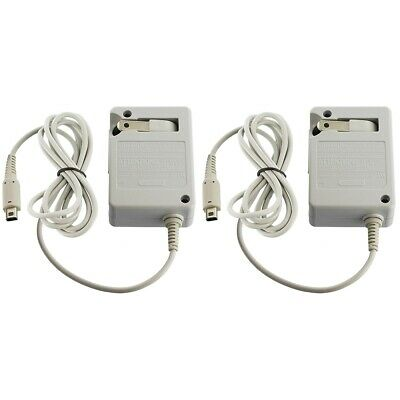 2-Pack Travel AC Adapter Home Wall Charger for Nintendo NDSi XL / LL 3DS New