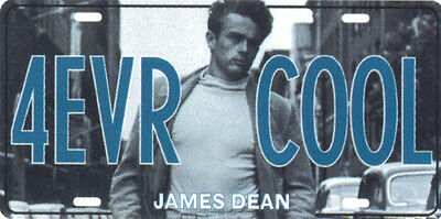 James Dean 4 EVR COOL Collectible Metal Automobile License Plate Tag New Forever