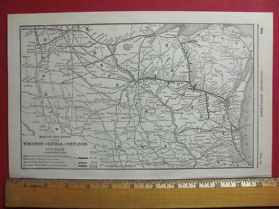 122 Year Old Wisconsin Central Railroad System Map Printed In 1895 Wc Rr History