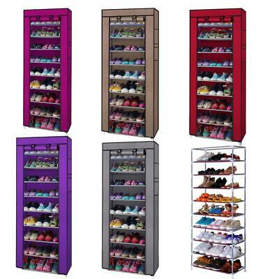 10 Tier Shoe Rack Shelf Saving Storage Closet Organizer Cabinet 9 Shelf