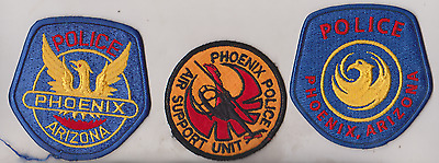 Phoenix AZ Police  two different & Air Support patches,