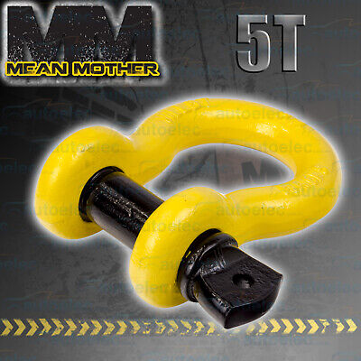 4x4 4WD RECOVERY BOW SHACKLE TOW WINCH SNATCH 5 TONNE MEAN MOTHER 19x22 MM512