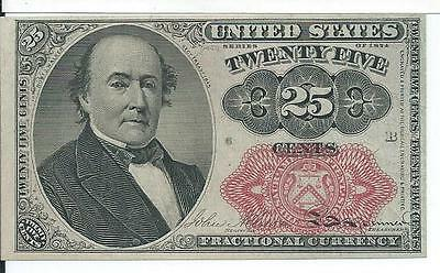 5th Issue Red Seal 25 Cents United States Fractional short Key Currency FR1309 B