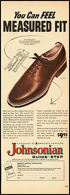 1953 Vintage Ad for Johnsonian Guide-Step Shoes  (052512)