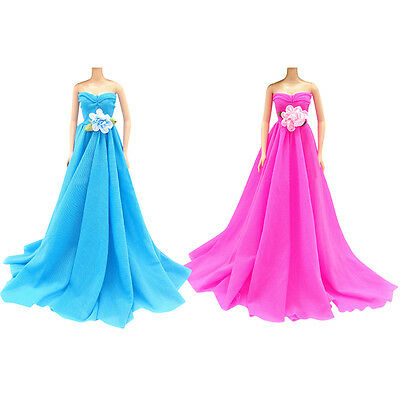 Hot Handmade Wedding Dress Party Gown Clothes Outfits Fit For Barbie Doll Gift