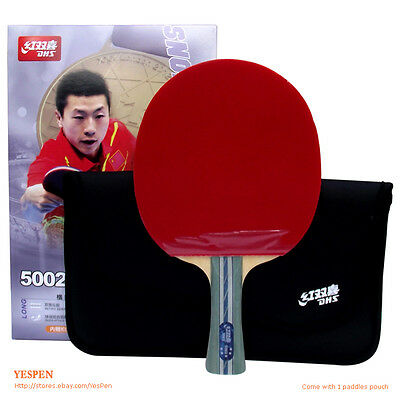 Double Happiness A Racket Ping Pong Paddle & Carry Case Shake hand Racket 5 Star