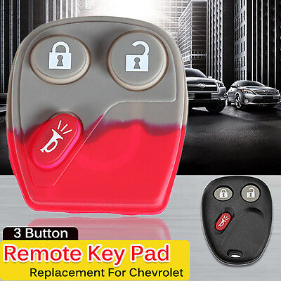 3 Button Pad Remote Key Keyless Fob Replacement for GMC Chevrolet 21997127