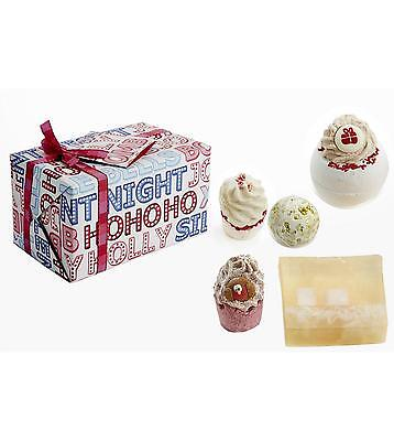 Bath Bomb Cosmetics Christmas Tinsel Town Wrapped Gift Set Soap & Bath