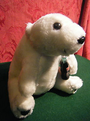 1996 Coca Cola  Bear 8'' Tall  With Tag ,  Nice And Clean