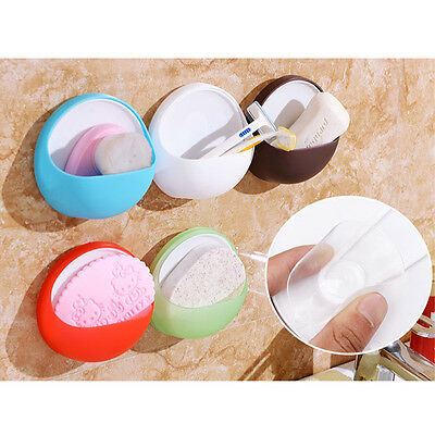 New Wall Bathroom Toothbrush Suction Cup Soap Dishes Holder Organizer Kitchen