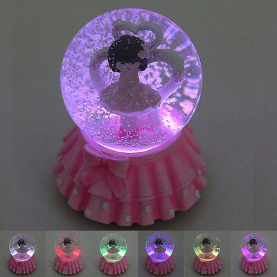 LED Musical Box Snow globe decorating Flower Fairy Water Ball Toys Easter Gift