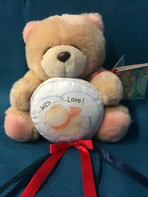 Forever Friends Bear Holding With Love Cushion