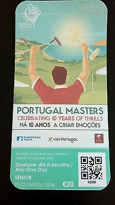 Golf. Portugal Masters Ticket.2016