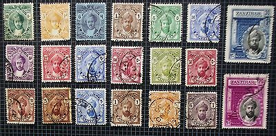ZANZIBAR - Early Collection of Used Stamps