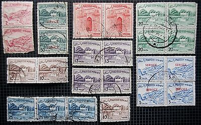 PAKISTAN - Early Collection of Used Stamps