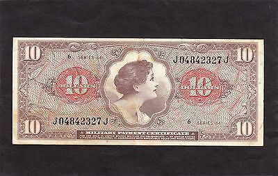 Military Payment Certificate $10  1965  P-M63 Series 641  VF+