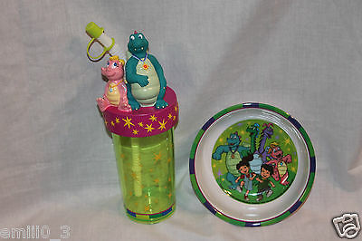 New Dragon Tales Sports Bottle Cup And Bowl Set Dinnerware Very Rare