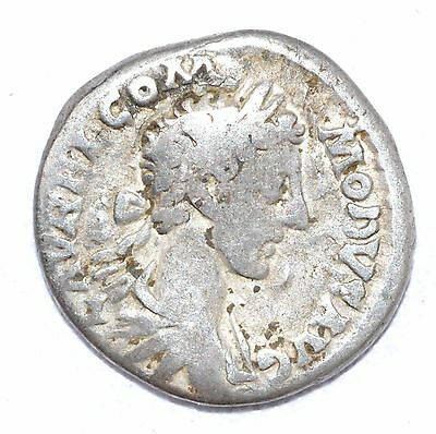 AUTHENTIC COMMODUS ROMAN COIN Silver Denarius, RV. Roma  - A746