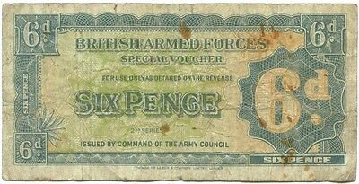 1948 British Armed Forces 6 Pence