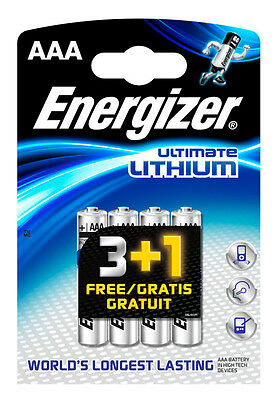 Energizer Lithium AAA 4 pack