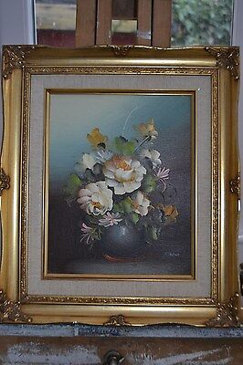 J. Palmer , Floral Still Life, Original Oil painting
