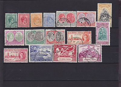 St Kitts - Nevis KGVI Used Collection