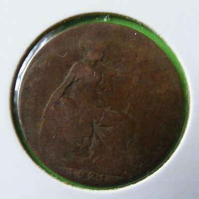 George V Half Penny Coin Minted 1921 - Lot#5522
