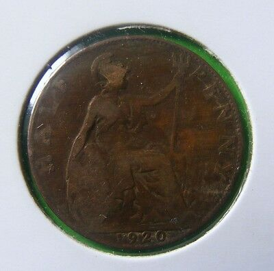George V Half Penny Coin Minted 1920 - In Holder - No Reserve - Lot#5217