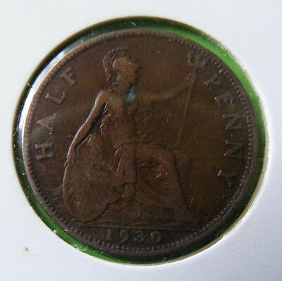 George V Half Penny Coin Minted 1930 - Lot#5517