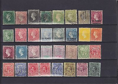 St Vincent QV - KGV Mounted Mint & Used Collection