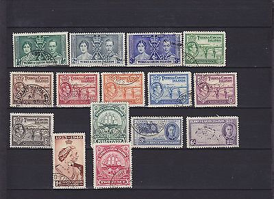 Turks & Caicos Islands KGVI Used Collection