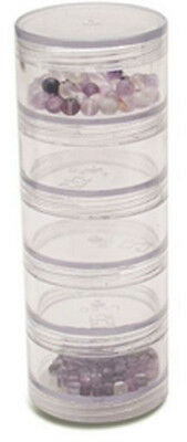 Round Storage Jars-Large 5 Stacked
