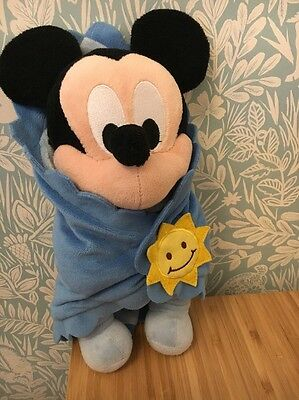 Disneyland Paris Exclusive Disney Babies Mickey Mouse With Blanket