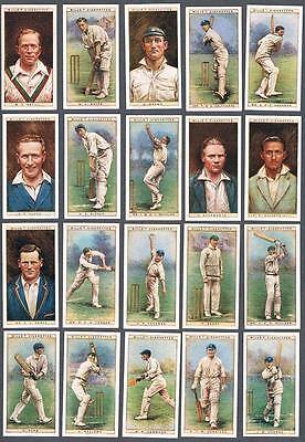 1928 Wills's Cigarettes Cricketers 1928 Tobacco Cards Complete Set of 50