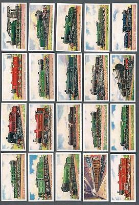 1924 ITC C30B Railway Engines (3 Types) Tobacco Cards Complete Set of 50
