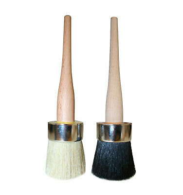 "Bentley Revive Pure Natural Boar Bristle 2"" Shabby Chic Wax Brush For Furniture"