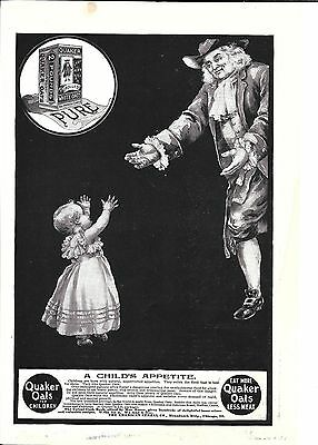1900 Quaker Oats Cereal A Child's Appetite Ad