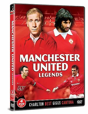 Manchester United Football Legends 4 Dvd Set Bobby Charlton Best Cantona Giggs