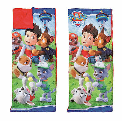 Paw Patrol Childrens Sleeping Bag for bed. For junior sleepovers & Camping 22523