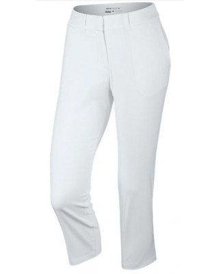 Nike Golf Womens Tournament Crop Trousers White Uk Size 16
