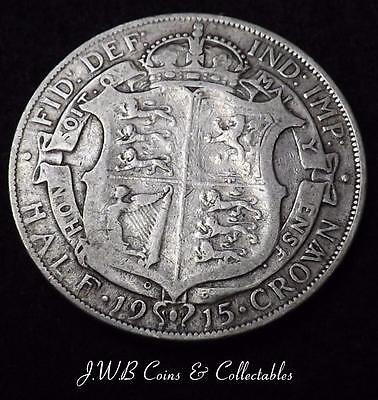 1915 George V Silver Halfcrown Coin - Great Britain - Ref; T/M2