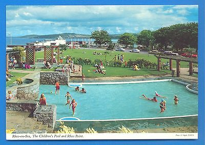 Rhos-On-Sea.the Childrens Pool And Rhos Point.postcard