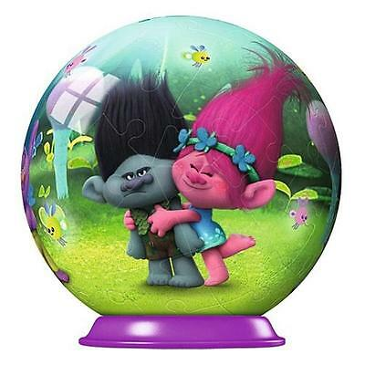 Ravensburger 72503 Colourful High Quality 54 pieces 3D Puzzleball Trolls Game