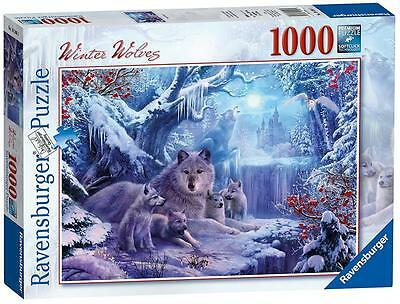 Ravensburger 19596 High Quality Winter Wolves 1000 Pieces Jigsaw Puzzle Game